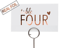 Table numbers for Wedding / Gold Silver Copper Signage / Custom Wedding decor