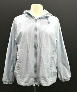 Catalina Outerwear Womens Gray Long Sleeve Full Zip Hoodie Jacket Plus Size 1X