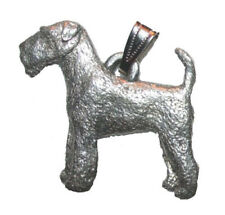 Airedale Terrier Pendant Dog Harris Fine Pewter Made in Usa jewelry