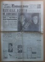 Quotidiano Newspaper Journal - France-soir - 15 Febbraio Février 1952