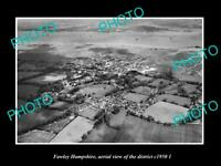 OLD LARGE HISTORIC PHOTO FAWLEY HAMPSHIRE ENGLAND DISTRICT AERIAL VIEW c1950 2