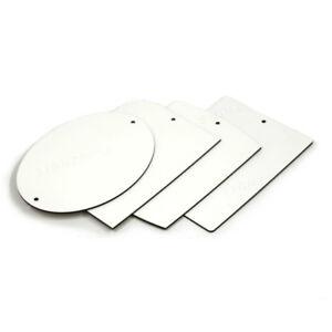 Oval / Rectangle MDF Doorplate Sign Sublimation Heat Press Custom Design Print