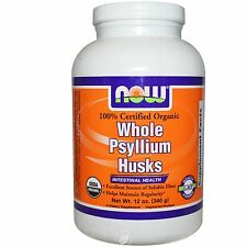NOW Foods - Whole Psyllium Husks Intestinal Health 100% Certified Organic 12 oz.