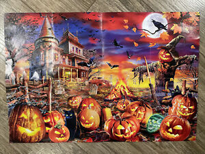 MasterPieces ALL HALLOWS EVE 500 Piece Halloween Loose Puzzle w/ Poster NO BOX