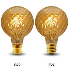 Vintage LED 4W Edison Style Twisted Globe G95 Filament Light Bulb B22 or E27