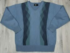 Gabicci Golf Mens Sweater Jumper Pullover Blue V Neck 50% Wool L / Large