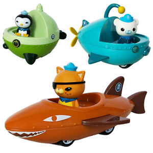 3pcs/lot Octonauts Toys Gup-A B E with 3 Figures Ship Boat Models Kids Best Gift