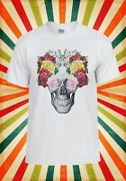 Flowers Skull Retro Rainbow Novelty Men Women Vest Tank Top Unisex T Shirt 1290