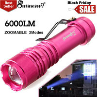 6000LM Flashlight CREE Q5 LED 3Modes AA/14500 Torch Tactical Lamp Super Bright