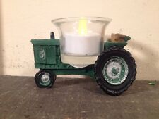 Country Primitive John Deere Tractor Candle Holder Farmhouse  Home Decor