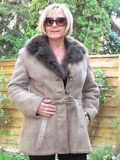 WOMENS L XL Shearling Lambskin Sheepskin Baby Lamb Coat Jacket Ladies D3086
