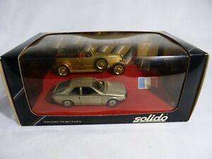 Solido Prestige Renault 40CV Plated Gold Fuego Silver 24 Carat New IN Box 1/43