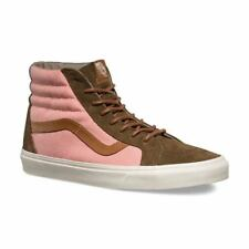 Vans Off the Wall Sk8 Hi Reissue DX Brushed Teak Burnt Coral Shoes Mens 11