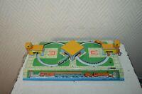 PETIT CIRCUIT DE TRAIN MECANIQUE MS 279 EN  TOLE  VINTAGE 1980 AVEC CLEF 23X10