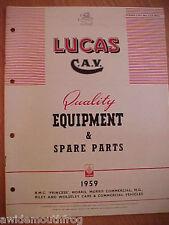 Lucas Quality Equipment & Spare Parts 1959 BMC Princess MG Morris Riley Wolseley
