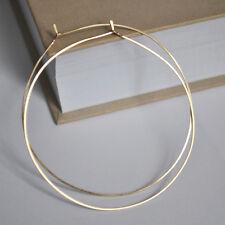 2 inch Gold Filled Hoop Earrings, Gold Hoops 5cm Elegant Hoops, Fashion Earrings