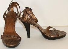 FIONI Bronze Strappy Shoes
