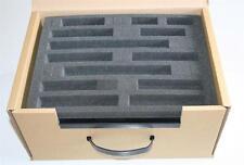 More details for 5 x n gauge railway train foam tray insert + cardboard carry case storage box
