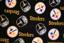 1-NFL PITTSBURGH STEELERS PRINTED FLEECE KING PILLOW CASE -BLACK FLEECE BACK