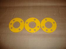 "Antenna Guy Ring For 48"" Fiberglass + Aluminum Mast Sections Lot Of 3 Yellow"