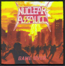 NUCLEAR ASSAULT-GAME OVER-SUBLIMATION PATCH-THRASH-CROSSOVER-METAL