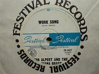"""Herb Alpert & the Tijuana Brass """"Work Song"""" Great A&M Oz 7"""