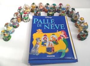 raccolta di 21 palle di neve Snowglobe Disney/DeAgostini 2004 con fascicoli