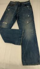 American Eagle Jeans Mens Size 29 x 29 Tag Says 29x32 Bootcut Denim Distressed