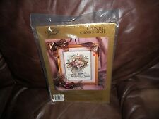 """Something Special FLORAL VASE, COUNTED Cross Stitch Kit 11"""" X 14""""  #50626  NEW!"""