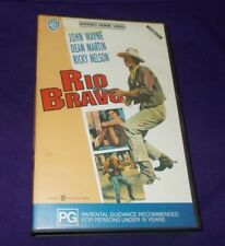 RIO BRAVO VHS PAL JOHN WAYNE WARNER HOME VIDEO