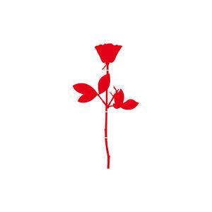 Rose 6cm rot Handy Auto Tür Fenster Deko Folie Depeche Mode Aufkleber Tattoo