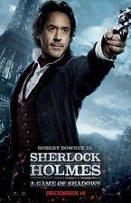 Sherlock Holmes poster (b) A Game Of Shadows movie poster - Robert Downey Jr