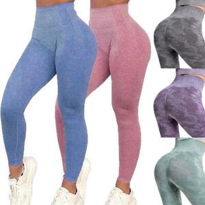 Women's Seamless Yoga Pants High Waist Leggings Fitness GYM Trousers Workout