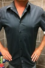 Prada SS Washed out black cotton shirt size XL Circa 1990's