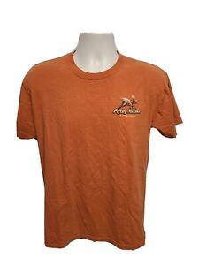 Flying Moose Brewing Company Alaska Living High Flying Low Adult M Orange TShirt