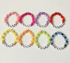 Kids / Children's Personalised Beaded Bracelets - 9 Colours - Any Name