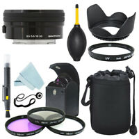 Sony E PZ 16-50mm f/3.5-5.6 OSS Lens Black + Filter Kit + Accessory kit