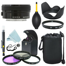 Sony PZ 16-50mm f/3.5-5.6 Lente OSS E Negro + Kit de Filtro + Kit de Accesorios