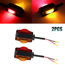 LED Marker Trailer Fender Lights Set Dual Face LED Clearance Lights for Truck