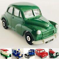 6 Die-cast Model Cars Ford Model T & Model A, SS100 Jaguar, Morris Minor & Mini