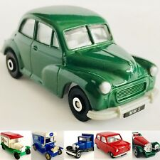 6 Die-cast Model Cars Ford Model T & Model A, SS100 Jaguar, Morris Minor & Mini