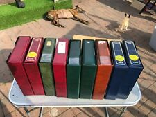 More details for cigarette card storage albums 2nd hand x9 c/w cases standard size