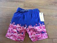 Boys M&S Kids Age 5-6 Years Flamingo Holiday Swim beach Shorts UPF 50+ Bnwt