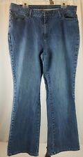 St. Johns Bay Women's Stretch Denim Blue Jeans Boot Cut Plus 18W SHORT Inseam 26