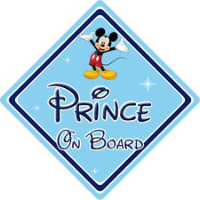 Disney Prince On Board Car Sign - Baby On Board - Mickey Mouse