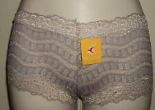 FENG ROUTING Lace See Through Boy Shorts Briefs Panties New With Tag Size XS #42