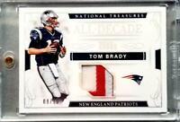 Tom Brady 2016 Panini National Treasures【#09/10 】ALL DECADE 2000s Patch card