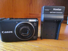 Canon A2200 14.1 MP Digital Camera Black With Battery Charger SD Card