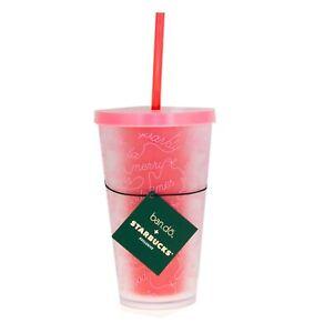 Starbucks Orange Poppy Seeed Flower Acrylic Cup Tumbler 16 oz Grande Spring