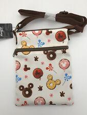 Loungefly Disney Mickey Mouse Donuts Food Crossbody Purse Passport Bag